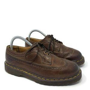 Dr Doc Martens Wingtip Oxford Leather Shoes Size 7